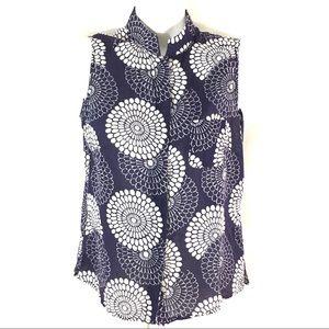 Indigo Palms Shirt Size Medium